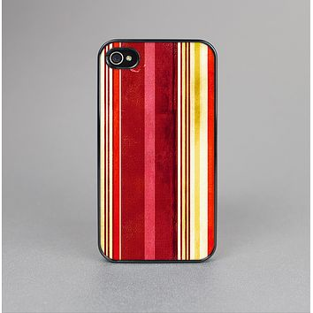 The Vintage Red & Yellow Grunge Striped Skin-Sert for the Apple iPhone 4-4s Skin-Sert Case