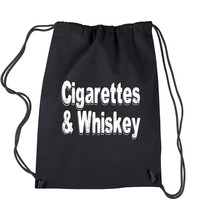 Cigarettes And Whiskey Drawstring Backpack