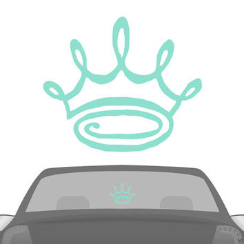 ZTA Zeta Tau Alpha Doodle Crown Car Laptop Dorm Window Vinyl Sorority Decal Sticker