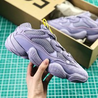 Kanye West X Adidas Yeezy 500 Purple Boost Women's Sport Running Shoes - Best Online Sale