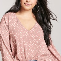 Plus Size Woven Animal Print Top