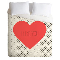 Allyson Johnson I Like You Duvet Cover
