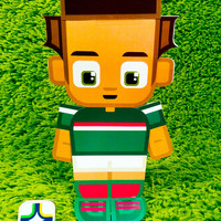 Mexico football soccer craft activity. Printable paper toy. Instant download. Make you own cards, banners and football soccer bunting!