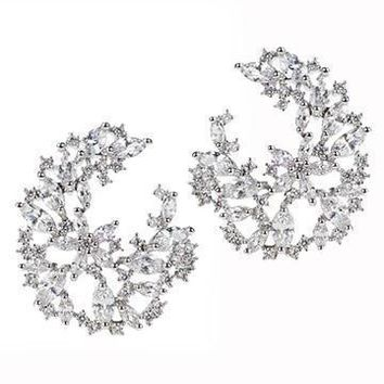 CZ by Kenneth Jay Lane - Cluster Circle Earrings