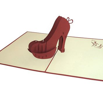 Paperkraft High Heel Birthday Pop Up Greeting Card