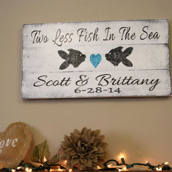 Beach Wedding Sign Personalized Wedding Sign Custom Wedding Sign Pallet Sign Shabby Chic Distressed Wood Sign Wedding Bridal Shower Gift