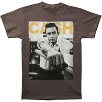 Johnny Cash Men's  Studio T-shirt Grey