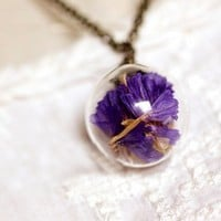 Natural Suddenly Eecstasy Flower Crystal Necklace Penda
