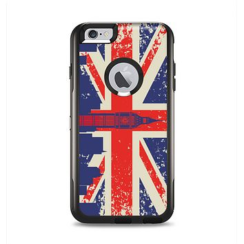 The Vintage London England Flag Apple iPhone 6 Plus Otterbox Commuter Case Skin Set