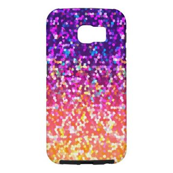 Samsung Galaxy S6 Glitter Graphic Background Samsung Galaxy S6 Cases