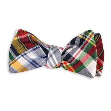 Honey Fitz Patchwork Madras Bow Tie by High Cotton