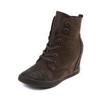 Womens Blowfish Topanga Wedge Boot, Brown | Journeys Shoes