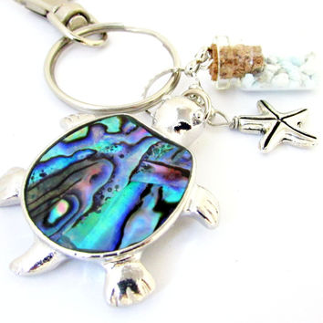 Abalone Sea Turtle Keychain