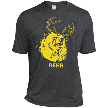 Mac's BEER shirt from Always Sunny  ST360 Sport-Tek Heather Dri-Fit Moisture-Wicking T-Shirt