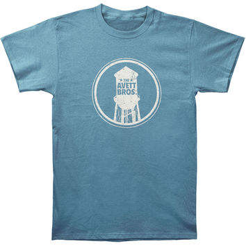 Avett Brothers Men's  Water Tower Slim Fit T-shirt Steel Rockabilia