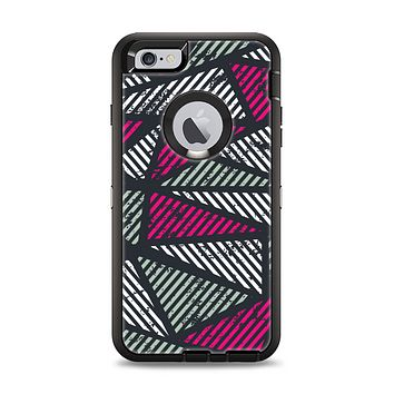 The Abstract Striped Vibrant Trangles Apple iPhone 6 Plus Otterbox Defender Case Skin Set