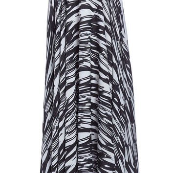 Maxi skirt in animal print