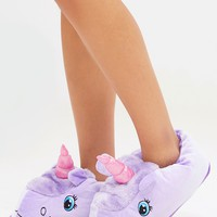 Lilac Unicorn Slippers