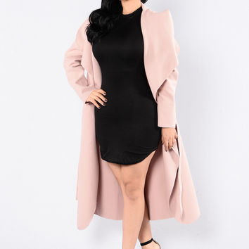 Big City Girl Coat - Dusty Pink