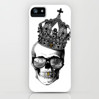 King skull iPhone & iPod Case by Julien Kaltnecker