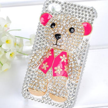 3D Teddy bear iphone 4 case Crystal iphone 4s case iphone 4 case iphone case Teddy bear iphone 4s case Crystal iPhone 4 case 3D iphone case