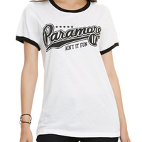 Paramore Baseball Logo Girls Ringer T-Shirt