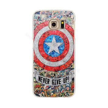 Captain America Shield Phone Back Cover Case for Samsung Galaxy S3 S4 S5 Mini S6 S7 Edge