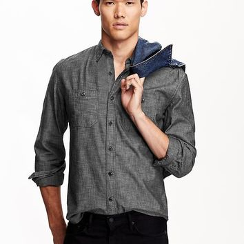 Old Navy Mens Slim Fit Chambray Shirts