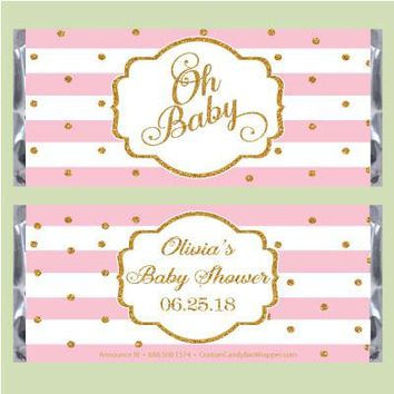 Oh Baby Shower Candy Bar Wrappers