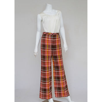 Shop Plaid Bell Bottoms on Wanelo