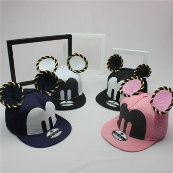 Caps Mickey baseball cap big ear Mouse Snapback Hats brand Hip-hop