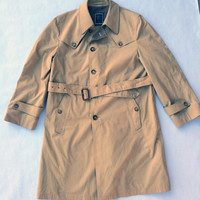 Vintage CHRISTIAN DIOR Trench Coat Khaki Color Size 42R
