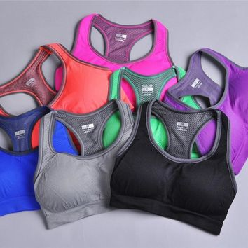 Sports Bra - Push Up Padded Thin Full Cup 7 Colors