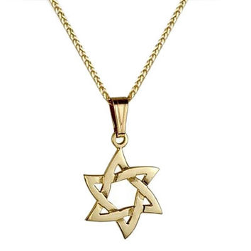 Real Gold Star Of David Waves Real Gold Pendant Star Of David Necklace From Jerusalem Religious Jewelry From Israel Gold Magen David Pendant