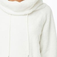 Faux Fur Cowl Neck Sweater