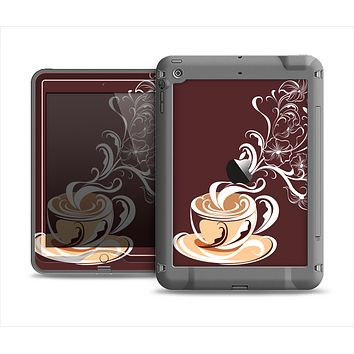 The Steaming Vector Coffee Floral Apple iPad Air LifeProof Nuud Case Skin Set
