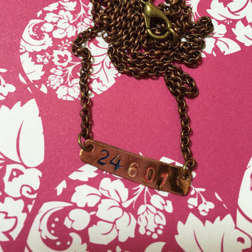 24601 Les Mis Necklace