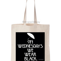 On Wednesdays We Wear Black Tote