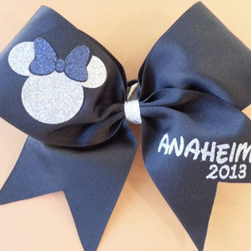 Disney/ Anaheim Black Cheer Bow