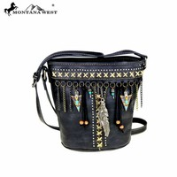 MW394-8296 Montana West Native American Bucket Shape Crossbody