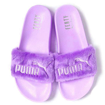 Trendsetter Puma X Rihanna Leadcat Fent  Lover Fur Slipper Shoes