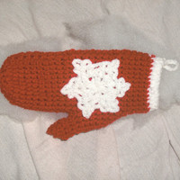 handmade crocheted Mitten Christmas by CanadianCraftCritter