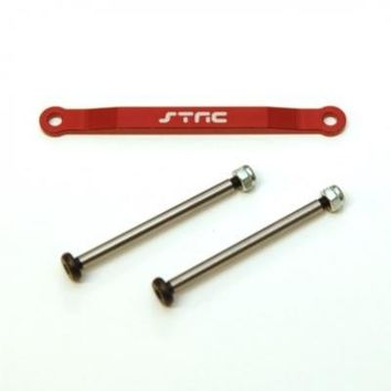 Front Hinge-Pin Brace Kit-Red w/lock-nut style hinge-pins