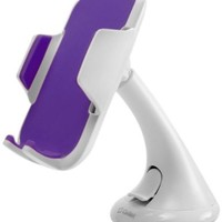 Cellet Universal Windshield Car Phone Holder for Smartphones (Up to 3.5 Inches Wide) - White/Purple