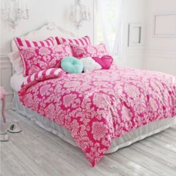 Wake Up Frankie™ Damsel in Damask Reversible Comforter and Sham Set