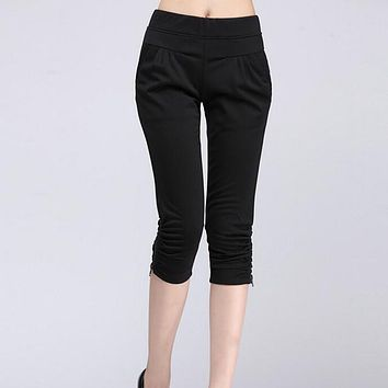 Women's Pants Casual Cropped Trousers