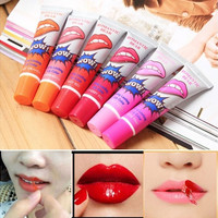 1pc Multi Color Waterproof Women Makeup Peel-off Lip Gloss Liquid Tint Lasts For 24h Moisturizing Lipstick [8096798855]