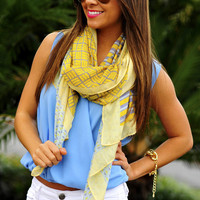 California Sunrise Scarf: Pale Yellow | Hope's