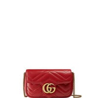 Gucci Supermini Quilted Leather Chain Shoulder Bag