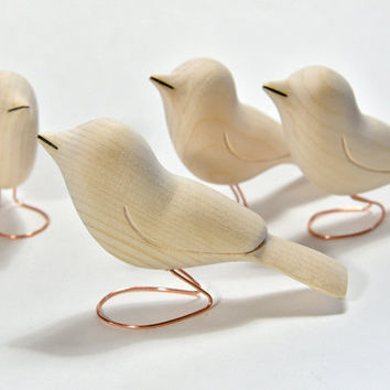 Shop Wood Sculpture Birds On Wanelo
